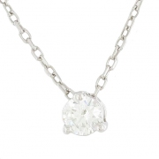 Collier diamant 0,45 carat en or blanc
