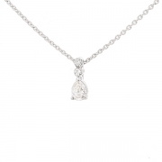 Collier pendentif diamants 0.20 carat en or blanc