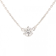 Collier solitaire diamant 1.75 carat en or blanc