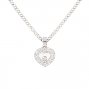 Collier signé CHOPARD modèle HAPPY DIAMONDS 0.25 carat en or blanc