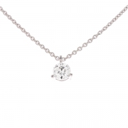Collier diamant 0.39 carat en or blanc