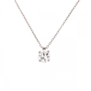 Collier diamant 0.72 carat en or blanc