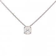 Collier diamant 0.90 carat en or blanc