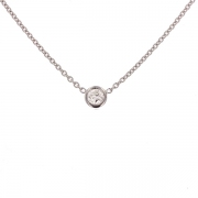 Collier diamant 0.25 carat en or blanc
