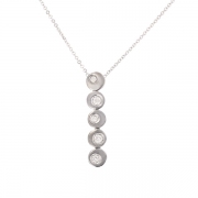Collier diamants 0.21 carat en or blanc