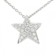 Collier CHANEL Comète diamants 0,60 carat en or blanc
