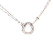 Collier collection LOVE signé CARTIER diamant en or blanc