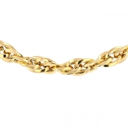 Collier maille fantaisie en or jaune