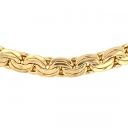 Collier maille haricots contemporains en or jaune