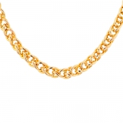 Collier maille contemporaine en or jaune 16.92grs