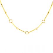 Collier maille contemporaine en or jaune 11,15grs