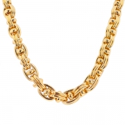 Collier en chute maille contemporaine en or jaune 70.01grs