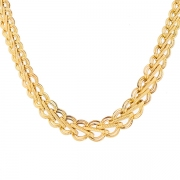 Collier en chute maille contemporaine en or jaune 16.04grs