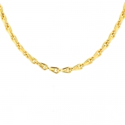 Collier maille contemporaine en or jaune 19.70grs