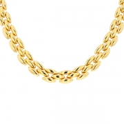 Collier maille contemporaine en or jaune 40.92grs