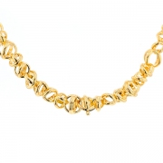 Collier signé FRED maille contemporaine en or jaune 83.22grs