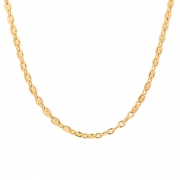 Collier signé CARTIER maille grains de café en or jaune 49.15grs