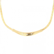 Collier diamants 0.42 carat en or jaune 26.30grs