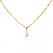Collier diamants 0.40 carat en or jaune