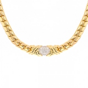 Collier diamants 0.76 carat en or jaune 50.86