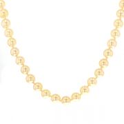 Collier perles de culture or jaune 42.73 grs