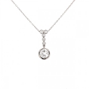 Collier diamants 1.17 carat en platine