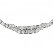 Collier diamants 3,56 carats en platine