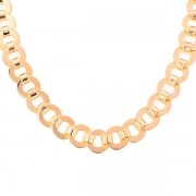 Collier maille vintage en or rose 73.78grs