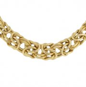 Collier maille royale en or jaune