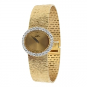 Piaget - Montre vintage diamants 1,95 carat en or jaune et or blanc
