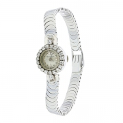Jaeger Lecoultre - Montre vintage diamants 0.44 carat en or blanc