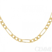 Collier maille gourmette altern�e or jaune. Occasion
