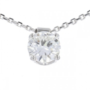 Collier diamant 0,90 carat en or blanc