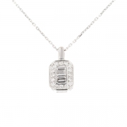 Pendentif diamants 0.24 carat en or blanc