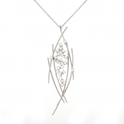 Pendentif diamants 0.50 carat en or blanc