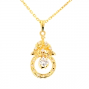 Pendentif diamants 0.30 carat en or jaune