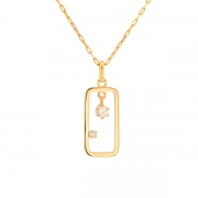 Pendentif diamants 0.22 carat en or jaune