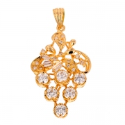 Pendentif diamants 1.08 carat en or jaune