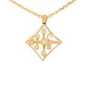 Pendentif diamants 0.15 carat en or jaune
