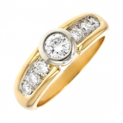 Solitaire diamants 0.60 carat 2 ors