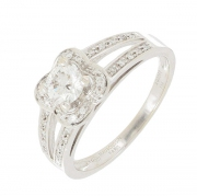 Mauboussin - Bague Chance of Love diamants 0,35 carat en or blanc