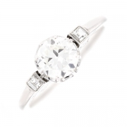 Solitaire diamants 1.10 carat en or blanc