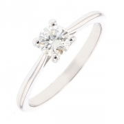 Solitaire diamant 0.46 carat en or blanc