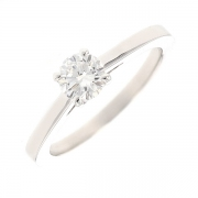 Bague solitaire diamant 0.51 carat en or blanc