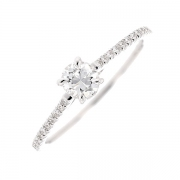 Solitaire diamants 0.47 carat en or blanc