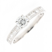 Solitaire diamants 0.75 carat en or blanc