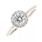 Solitaire diamants 0.57 carat en or blanc