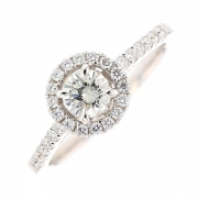Solitaire diamants 0.62 carat en or blanc