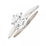 Solitaire diamant 1 carat en or blanc