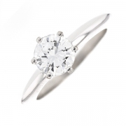 Bague solitaire diamant 1.17 carat en or blanc
